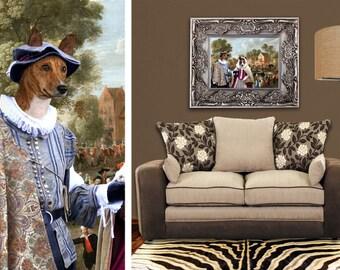 Basenji Art CANVAS Print Fine Artwork of Nobility Dogs Dog Portrait Dog Painting Dog Art Dog Print
