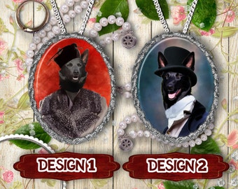 Australian Kelpie Jewelry - Pendant - Brooch  – Dog Jewelry -Dog Jewellery – Dog Pendant – Dog Brooch by Nobility Dogs