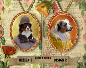 Australian Shepherd Jewelry - Pendant - Brooch  – Dog Jewelry -Dog Jewellery – Dog Pendant – Dog Brooch by Nobility Dogs