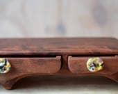 Triple drawer wood box. Redgum box. Bandsaw box. Glass drawer pulls. Wooden Box. Australian design box. Wood box. Reclaimed timber. Glass