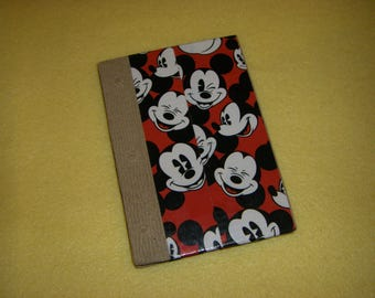 Mickey Mouse Duct Tape Journal - Walt Disney recycled paper upcycled unlined sketchbook diary