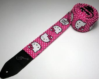 Anime themed handmade double padded guitar strap - This is NOT a licensed product
