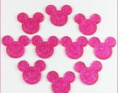 50% SALE 10pcs Hot Pink Minnie Mickey Mouse Shape Cabochons Resin Flatbacks Scrapbooking Girl Hair Bow Center Crafts Making Embellishments D