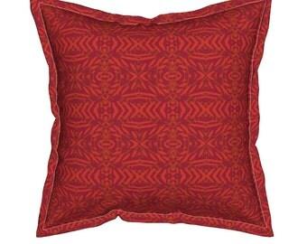 Red Tribal Pillow, Geometric Throw Pillows, Decorative Pillows, Unique Throw Pillow, Geometric Cushion, Red Throw Pillow, Aztec Toss Pillow