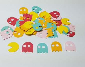 Pac Man Arcade Table Scatter/Confetti, Paper Party Decor- 250pc
