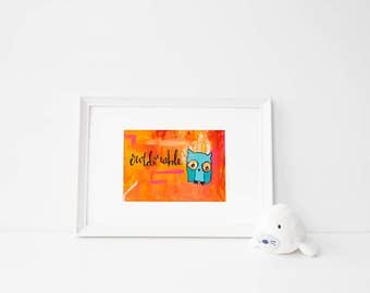 OWLdorable   pun print   cute animals   owl   artwork   animal pun   kids   home decor   nursery decor   adorable