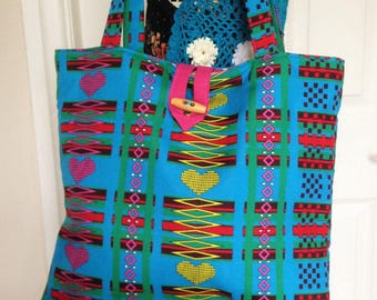 African Fabric Tote, African Fabric Bag, African Tote Handbag, African Print Bag, African Handbag, African Tote Bag, Tribal Print Handbag