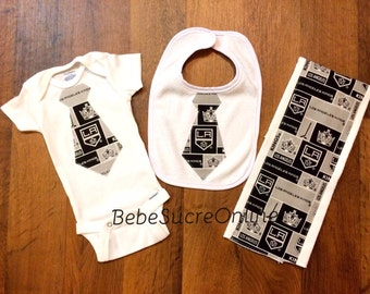 LA Kings Bodysuit, Bib, and Burp Cloth