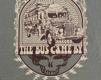 Furthur bus lot shirt - Grateful Dead, Jerry Garcia, hippie, Kesey, LSD, 420, Steal Your Face, SYF