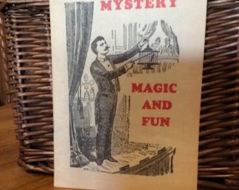 Mystery Magic Tricks catalog vintage 1950 ephemera