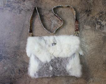 Fur Purse / 1970's Pelt Handbag / Vintage Bohemian Accessory