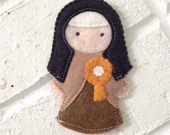 Saint Clare - Catholic Saint Toy - Finger Puppet