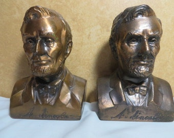 Vintage Banthrico Coin Bank - Abraham Lincoln Bust lot of two both different