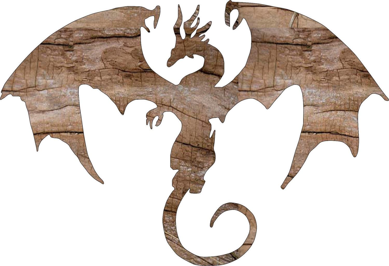 Cutout dragon wood shapes ornaments diy craft supplies for Craft supplies wooden shapes