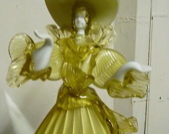 Murano Glass FIGURINE Signed G Toffolo Dancing Lady Venetian