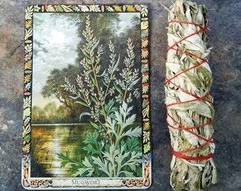 Mugwort Smudge Bundle, One Mugwort Smudge Stick, Cronewort Smudge Bundle, Wormwood Smudge Stick, Dream Smudge Bundle, Sacred Plant Smoke