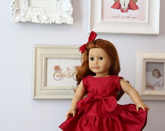 "Victoria 18"" Doll Dress PDF Pattern Tutorial,  Ebook, Epattern, Sizes 18"" Doll - American Girl Doll"