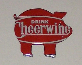 Pig Magnet - Cheerwine - 100th Anniversary Soda Can
