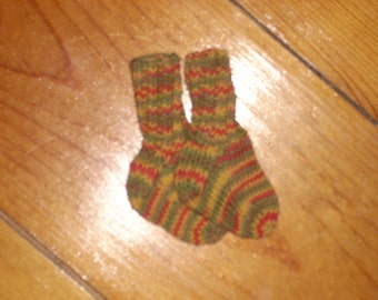 "Wool Baby Socks 2 1/2"" Foot"