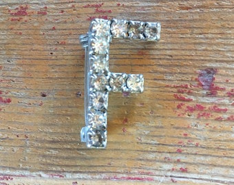 1- Letter F Pin Brooch Monogram Initial jewelry
