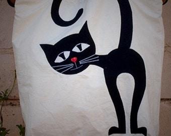 Applique Cat Tote Bag Project