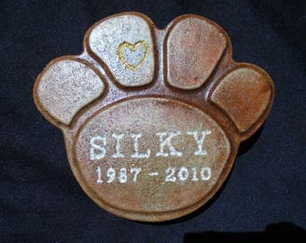 Pet Memorial Stone, Personalized, Engraved, Shipping Included