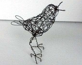 Original Handmade Wire Bird Sculpture - NYDIA