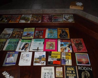 Walter Foster & more Art books vintage lot of 30 1960's - 80's