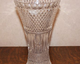 Vintage Lead Crystal Tall 9 Inch Vase