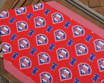Phillies Baseball Table Runner
