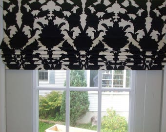 Roman Shade Standard (36 x 60)  - Flat with Privacy Lining and Cord Lock Lift System  Send 2 yards of Your Own Fabric