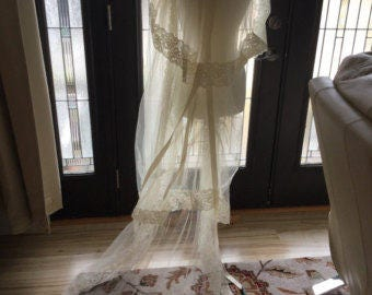 Vintage Veil Chantilly Lace Extra Long 3 Layers
