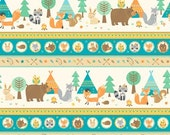 FLANNEL - Teepee Time Camping Stripes from Northcott's Teepee Time Collection by Deborah Edwards