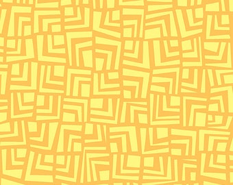 Yellow Tone on Tone Abstract Squares from Andover Fabric's Improv Collection by Carol Van Zandt