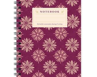 Notebook A6 - Lilac Flower Pattern