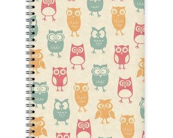 Notebook A5 - Owl Pattern