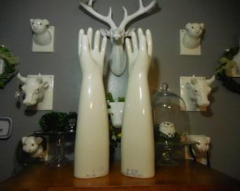 Porcelain Rubber Glove Mold Pair