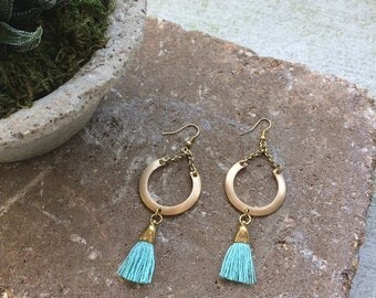 O R B I T earrings with tassel