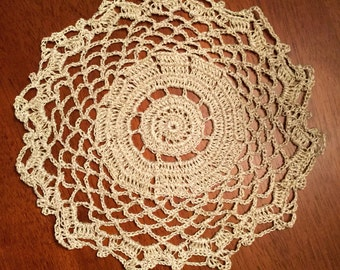 Cream Sparkle Doily