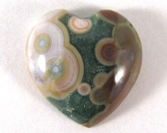 Ocean Jasper HEART Cabochon - ETOJ604