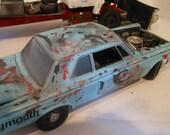 Scale Model Auto, Blue Car, 1/24 Scale Model, Classicwrecks, Barn Find