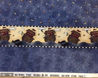 Vintage Debbie Mumm Noah's Ark Border Fabric