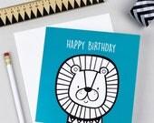 Lion Birthday Card | Greetings Card | Kid's Birthday