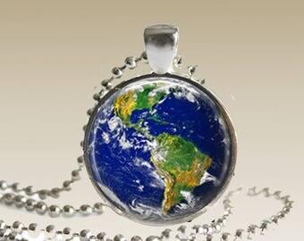 Planet Earth Necklace Earth Jewelry Planet Pendant EN1