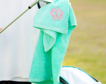 Mint Golf Towel - Women's Gift - Monogram Golf Towel - Sports Towel - Personalized Towel - Gift for Her - Womens Golf Towel - Christmas Gift