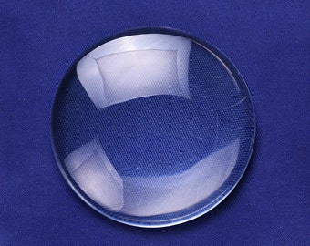 5 PCS 70MM Round Flat Back clear Crystal glass Cabochon 13MM Thick 10149150