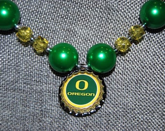 Oregon Ducks chunky bead necklace