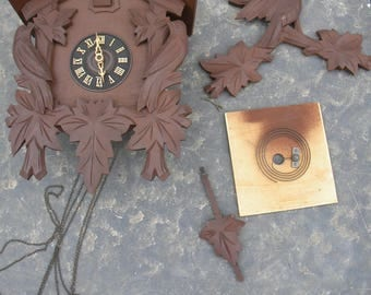 vintage 1960s or so germany COO COO CLOCK parts repair