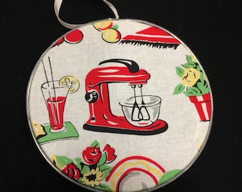 vintage mixer hoop art ornament