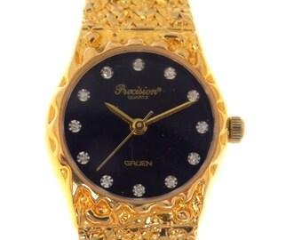 Vintage gruen golden nugget watch